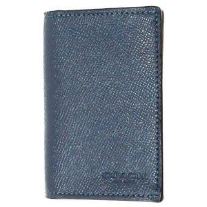 コーチ カードケース  COACH アウトレット バイフォールド クロスグレイン レザー メンズ カードケース F86763 DDE|selectag