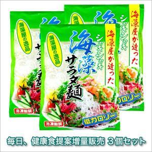 シャキシャキ海藻サラダ麺 500g 3個セット|selectag