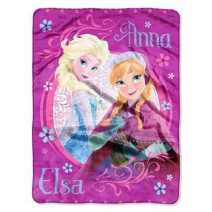 Disney ディズニー アナと雪の女王 Super Plush Throw(エルサ&アナ) / 大判 ブランケット FROZEN NW53530133|selectag