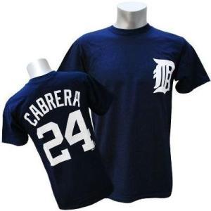 MLB タイガース ミゲル・カブレラ Tシャツ ネイビー マジェスティック Player Tシャツ【0220価格変更】|selection-j
