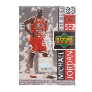 NBA ブルズ マイケル・ジョーダン 引退記念 23枚 カードセット Upper Deck レアモデル|selection-j