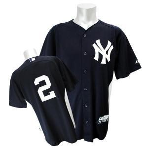 MLB ヤンキース デレク・ジーター ユニフォーム ネイビー Majestic|selection-j