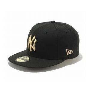 MLB ヤンキース キャップ/帽子 ブラック/ゴールド ニューエラ 5950 Custom Color キャップ|selection-j