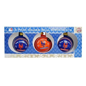 MLB メッツ オーナメント NYM AUTH GLASS BALL 3 PACK|selection-j