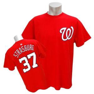 MLB ナショナルズ スティーブン・ストラスバーグ Tシャツ レッド マジェスティック Player Tシャツ【0220価格変更】|selection-j