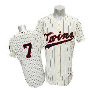 MLB ツインズ ジョー・マウアー ユニフォーム Altホーム/アイボリー マジェスティック Authentic Player ユニフォーム|selection-j