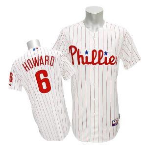 MLB フィリーズ ライアン・ハワード ユニフォーム ホーム マジェスティック Authentic Player ユニフォーム|selection-j