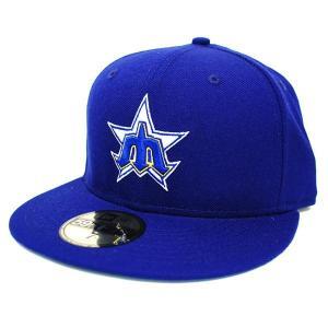 MLB マリナーズ キャップ/帽子 ロイヤル ニューエラ Customized Authentic キャップ Throw Back|selection-j