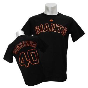 MLB ジャイアンツ マディソン・バムガーナー Tシャツ ブラック マジェスティック Player Tシャツ【0220価格変更】|selection-j