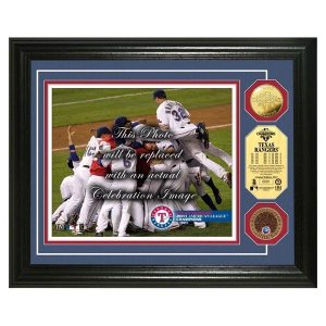 MLB レンジャーズ フォトフレーム ハイランドミント Texas Rangers 2011 AL Champs Infield Dirt Coin Photo Mint|selection-j