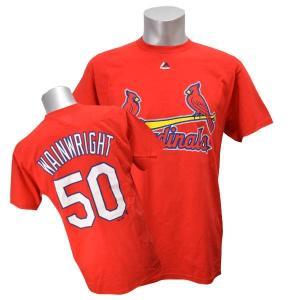 MLB カージナルス アダム・ウェインライト Tシャツ レッド マジェスティック Player Tシャツ【0220価格変更】|selection-j