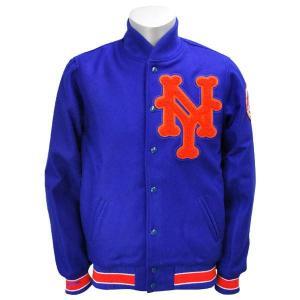 【セール】MLB メッツ ジャケット 1969-ロイヤル ミッチェル&ネス Wool ジャケット selection-j