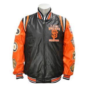 MLB ジャイアンツ ジャケット ジースリー/G-III Giants 7-Time Champions Leather ジャケット【1902MLBセール】|selection-j