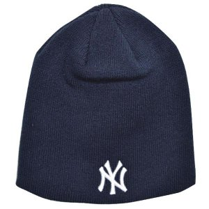 MLB ヤンキース ニットキャップ/帽子 ネイビー 47ブランド Raised Beanie ニットキャップ|selection-j