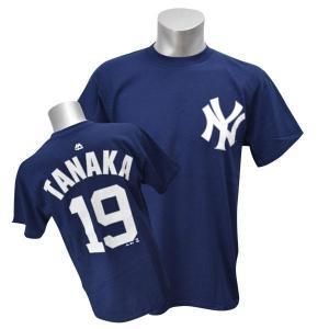MLB ヤンキース 田中将大 Tシャツ ネイビー マジェスティック Player Tシャツ|selection-j