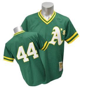 【セール】MLB アスレチックス レジー・ジャクソン ユニフォーム 1987 ミッチェル&ネス Authentic Mesh BP ユニフォーム selection-j