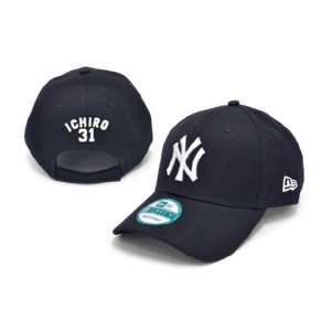 MLB ヤンキース イチロー キャップ/帽子 ネイビー ニューエラ 940 Japanese Player キャップ|selection-j