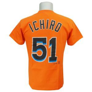 MLB マーリンズ イチロー プレーヤー Tシャツ (日本サイズ) マジェスティック/Majestic|selection-j