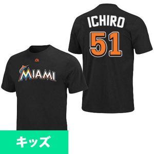 お取り寄せ MLB マーリンズ イチロー プレーヤー キッズ Tシャツ (日本サイズ) マジェスティック/Majestic|selection-j