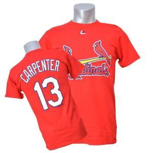MLB カージナルス マット・カーペンター Tシャツ レッド マジェスティック Player Tシャツ selection-j