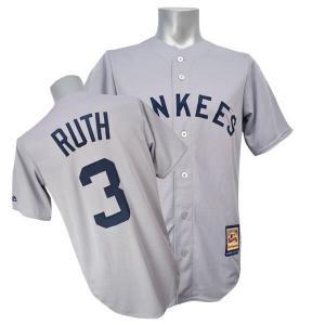 MLB ヤンキース ベーブ・ルース ユニフォーム ロード Majestic|selection-j