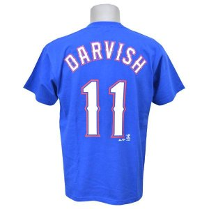 MLB レンジャーズ ダルビッシュ有 Tシャツ ブルー マジェスティック Player Tシャツ JPN Ver New 特別セール 特別セール 特別セール|selection-j