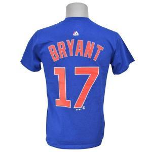 MLB カブス クリス・ブライアント Tシャツ ロイヤル Majestic【0220価格変更】|selection-j