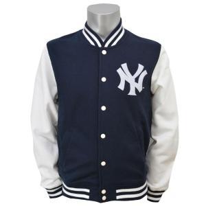 お取り寄せ MLB ヤンキース スウェット レターマン ジャケット マジェスティック/Majestic|selection-j