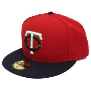 【セール】MLB ツインズ オーセンティック パフォーマンス オンフィールド キャップ/帽子 レッド ニューエラ/New Era【500円引き】|selection-j