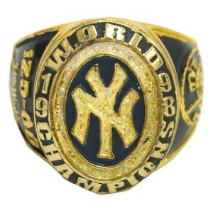 MLB ヤンキース 1998 ワールドシリーズ レプリカチャンピオンリング SGA レアアイテム【1909プレミア】 selection-j