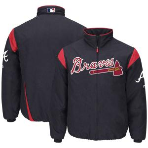 MLB ブレーブス オーセンティック オンフィールド プレミア ジャケット マジェスティック/Majestic ネイビー|selection-j