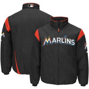 MLB マーリンズ オーセンティック オンフィールド プレミア ジャケット マジェスティック/Majestic ブラック|selection-j