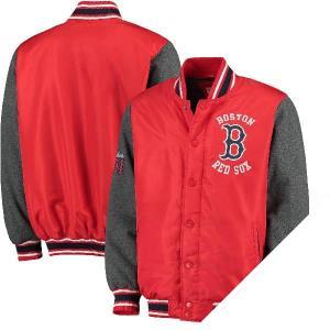 お取り寄せ MLB レッドソックス オリジナル バーシティー ボタンアップ ジャケット ジースリー/G-III レッド|selection-j