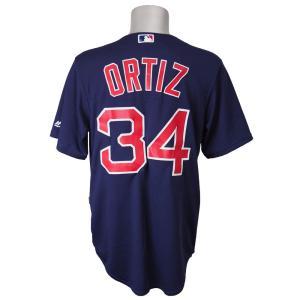 MLB レッドソックス デービッド・オルティス クールベース プレーヤー レプリカ ゲーム ユニフォーム マジェスティック/Majestic オルタネイト ネイビー|selection-j
