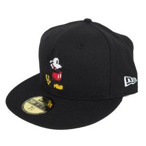 ミッキーマウス 59FIFTY キャップ/帽子 ニューエラ/New Era ブラック|selection-j