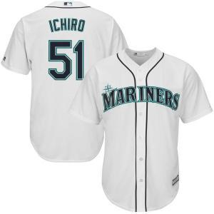 MLB マリナーズ イチロー ホーム オフィシャル クールベース ユニフォーム マジェスティック/Majestic ホワイト|selection-j