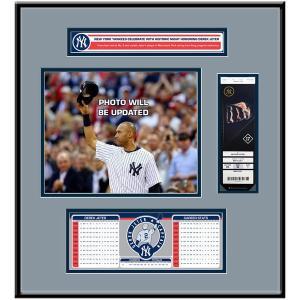 お取り寄せ MLB ヤンキース デレク・ジーター 永久欠番 記念 チケットフレーム Jr|selection-j