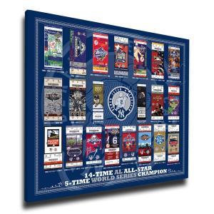 お取り寄せ MLB ヤンキース デレク・ジーター 永久欠番 記念 チケット キャンバス|selection-j