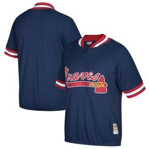 お取り寄せ MLB ブレーブス クーパーズタウン バッティング プラクティス クォータージップ ユニフォーム Mitchell & Ness|selection-j