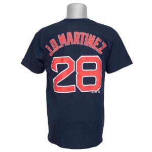 MLB レッドソックス J.D.マルティネス プレイヤー Tシャツ マジェスティック/Majestic ネイビー selection-j