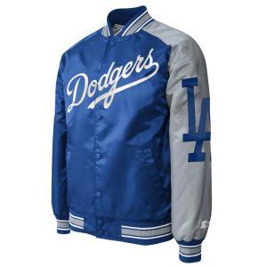 MLB ドジャース ジャケット/アウター ツートーン アーム サテン スターター/Starter ブルー selection-j