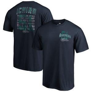MLB(メジャーリーグ) マリナーズ イチロー Tシャツ 引退記念 Salute Stat Majaetic ネイビー selection-j