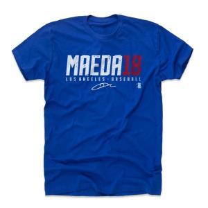MLB ドジャース 前田健太 Tシャツ Player Art Cotton T-Shirt 500Level ロイヤル|selection-j