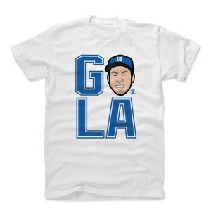 MLB ドジャース 前田健太 Tシャツ Player Art Cotton T-Shirt 500Level ホワイト|selection-j