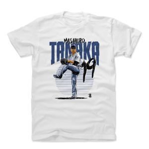 MLB ヤンキース 田中将大 Tシャツ Player Art Cotton T-Shirt 500Level ホワイト|selection-j