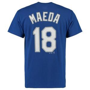 MLB ドジャース 前田 健太 Tシャツ プレイヤー ネーム&ナンバー マジェスティック/Majestic ロイヤル|selection-j