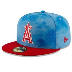MLB エンゼルス キャップ/帽子 2019 ファーザーズデー オンフィールド 父の日 ニューエラ/New Era レッド|selection-j