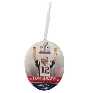 NFL トム・ブレイディ ペイトリオッツ 2017 HALLMARK NEW ENGLAND PATRIOTS ORNAMENT SUPER BOWL LI MVP Hallmark【1909プレミア】|selection-j