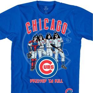 MLB シカゴ・カブス Tシャツ KISS コラボ ドレス トゥ キル ブルー selection-j