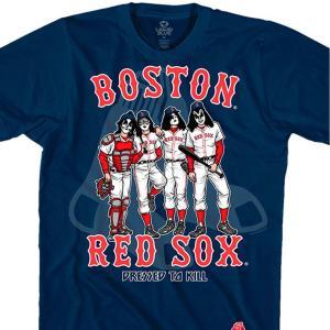 MLB ボストン・レッドソックス Tシャツ KISS コラボ ドレス トゥ キル ネイビー selection-j